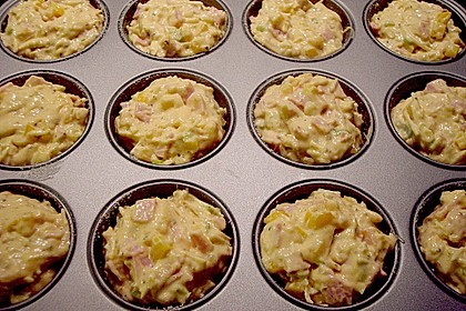 Herzhafte Schinken-Käse-Muffins 62