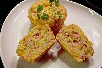Herzhafte Schinken-Käse-Muffins 1