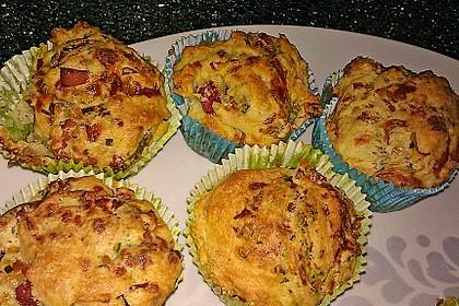 Herzhafte Schinken-Käse-Muffins 24