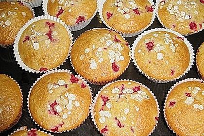 Haferflocken - Johannisbeer - Muffins 10