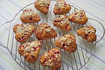 Haferflocken - Johannisbeer - Muffins 8