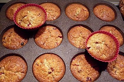 Haferflocken - Johannisbeer - Muffins 16
