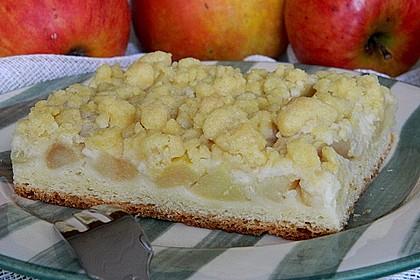 Apfel - Streuselkuchen vom Blech 16