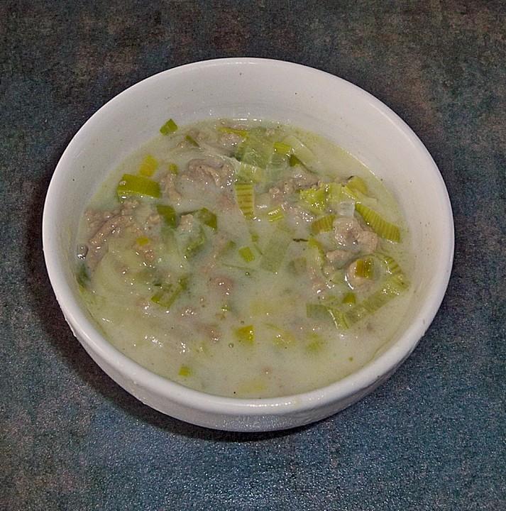 hackfleisch lauch suppe fettarm