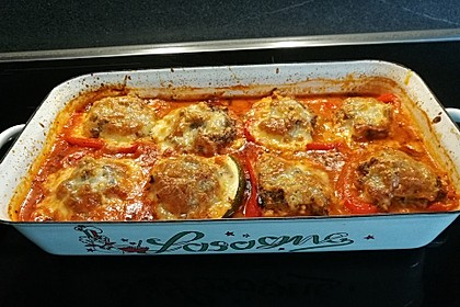 Annas gefüllte Zucchini im Tomatenbett 2