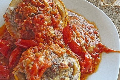 Annas gefüllte Zucchini im Tomatenbett 8