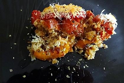 Couscous-Auflauf mit gegrilltem Paprika