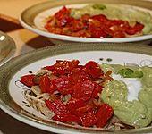 Pasta Avocado - Paprika (Bild)