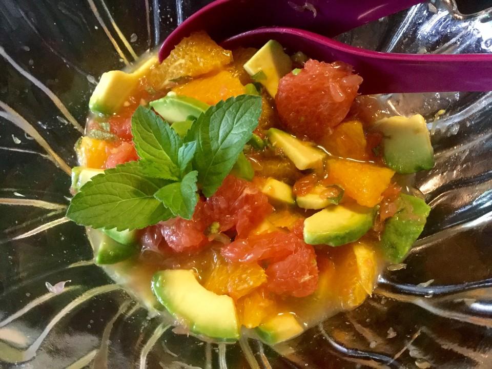 avocado zitrus salat rezept mit bild von jonielady. Black Bedroom Furniture Sets. Home Design Ideas