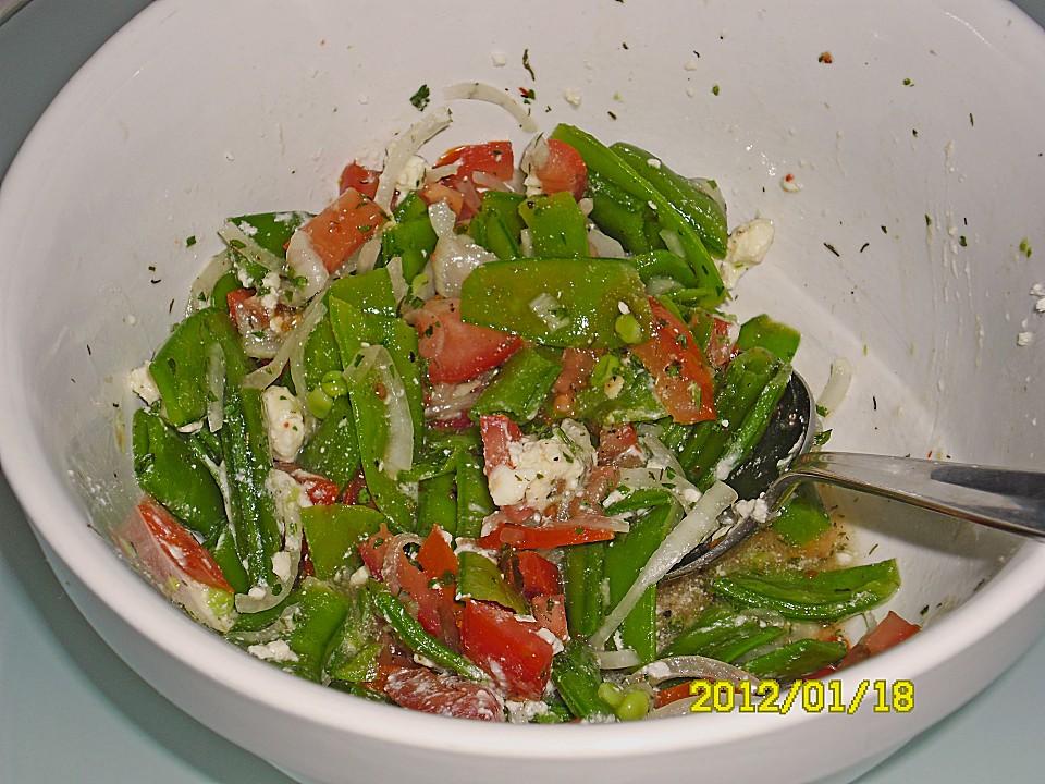 tomatensalat mit zuckerschoten rezept mit bild von judith. Black Bedroom Furniture Sets. Home Design Ideas