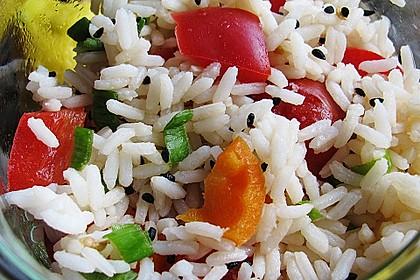 Reis - Paprika - Salat