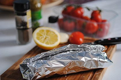 Rotbarsch mit Tomate - Mozzarella in Folie 11