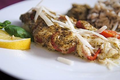 Rotbarsch mit Tomate - Mozzarella in Folie 1