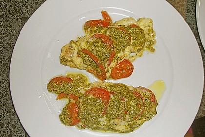 Rotbarsch mit Tomate - Mozzarella in Folie 9