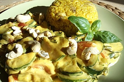 Bananen - Curryreis mit Zucchini 1