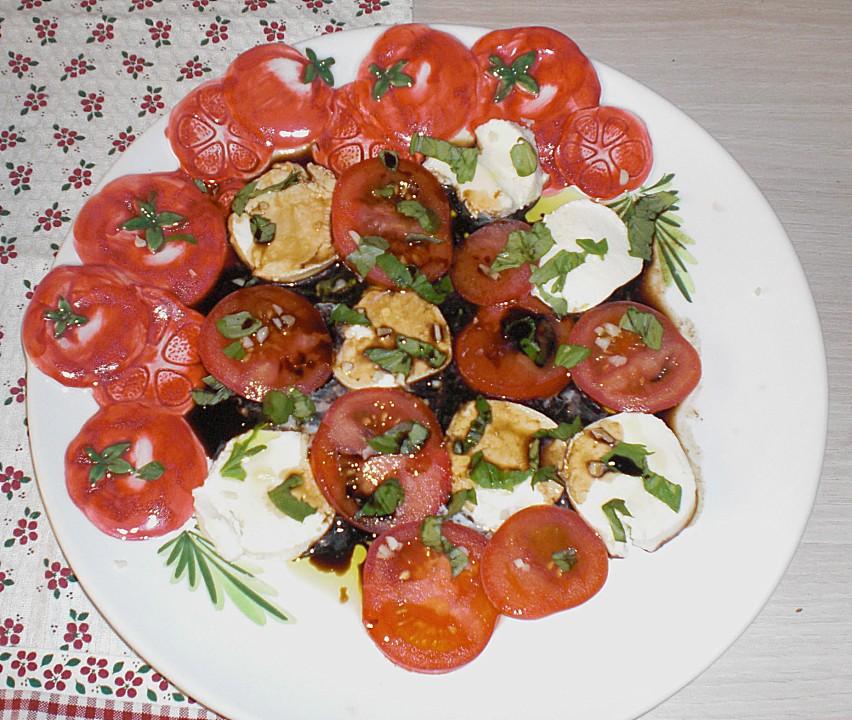 tomate mozzarella rezept mit bild von rocas. Black Bedroom Furniture Sets. Home Design Ideas