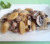 Schnelle Gnocchi mit Champignons
