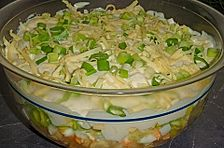 Fruchtig - pikanter Schichtsalat