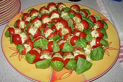 Mozzarella - Tomaten Spieße 2