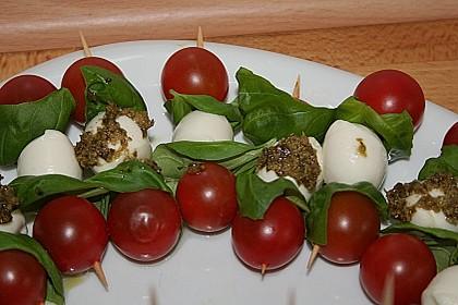 Mozzarella - Tomaten Spieße 1