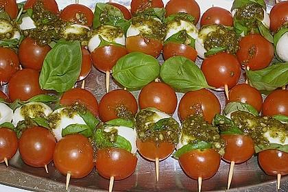 Mozzarella - Tomaten Spieße 7