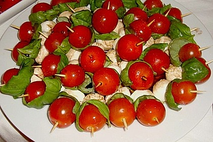 Mozzarella - Tomaten Spieße 6