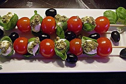 Mozzarella - Tomaten Spieße 4