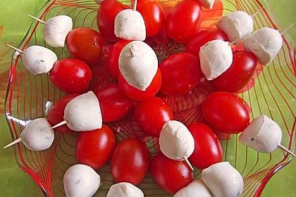 Mozzarella - Tomaten Spieße 16
