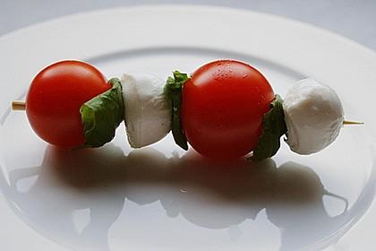Mozzarella - Tomaten Spieße 8
