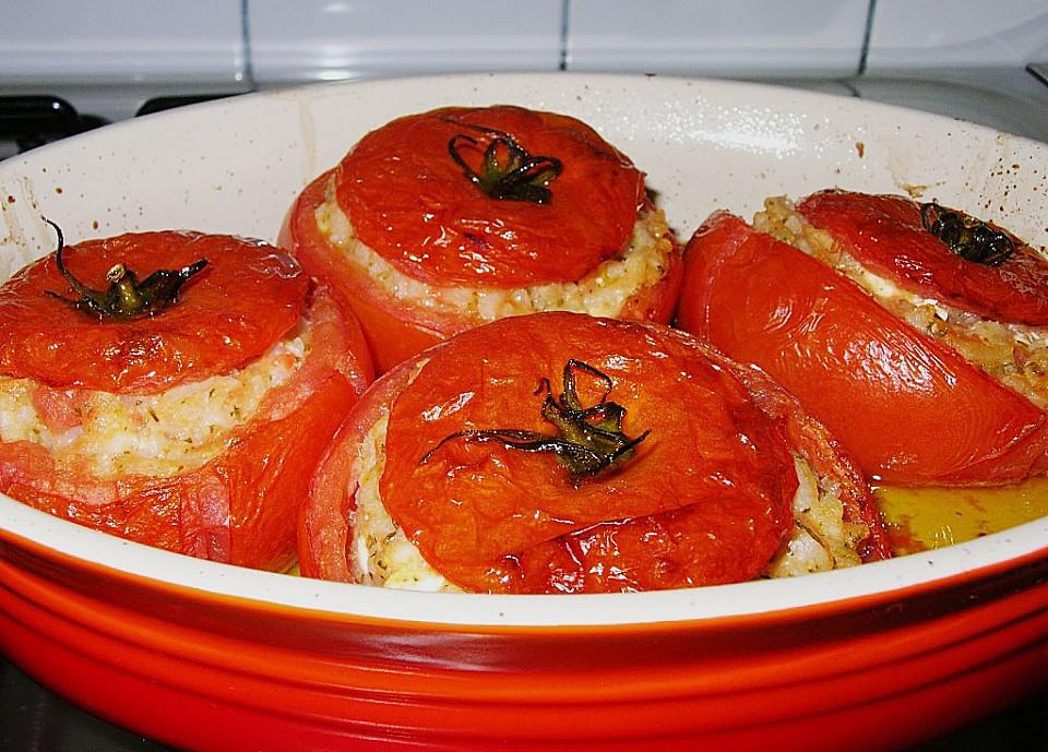 tomaten gef llt mit risotto schafsk se von ulkig. Black Bedroom Furniture Sets. Home Design Ideas