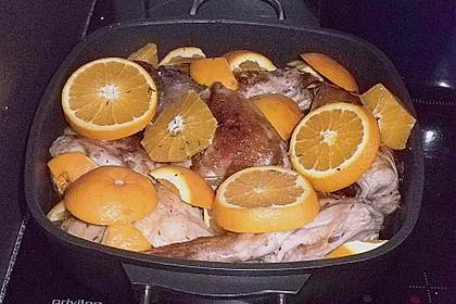 'Hase' (Kaninchen) in Orangen - Wurzelwerksoße 1