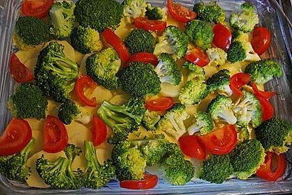 Kartoffelauflauf mit Brokkoli und Tomaten 8