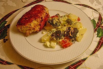 Kartoffelauflauf mit Brokkoli und Tomaten 9
