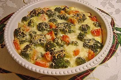 Kartoffelauflauf mit Brokkoli und Tomaten 4