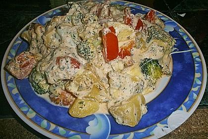 Kartoffelauflauf mit Brokkoli und Tomaten 13