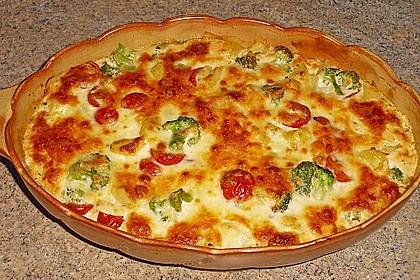Kartoffelauflauf mit Brokkoli und Tomaten 0