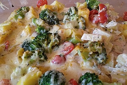 Kartoffelauflauf mit Brokkoli und Tomaten 18
