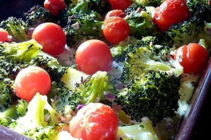 Kartoffelauflauf mit Brokkoli und Tomaten 7