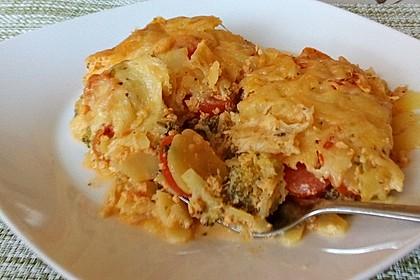 Kartoffelauflauf mit Brokkoli und Tomaten 21