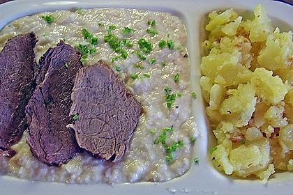 Rindfleisch mit Semmelkren und Kartoffelschmarrn 2