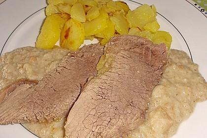 Rindfleisch mit Semmelkren und Kartoffelschmarrn 1