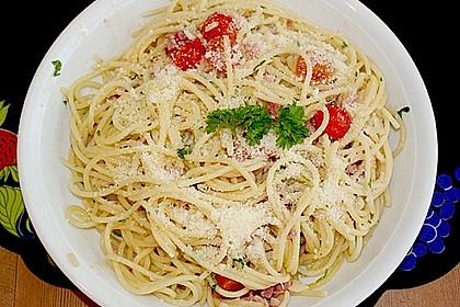 Spaghetti in Knoblauch und Öl 3