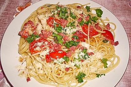 Spaghetti in Knoblauch und Öl 4