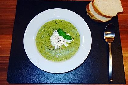 Brokkoli - Basilikum Suppe 2