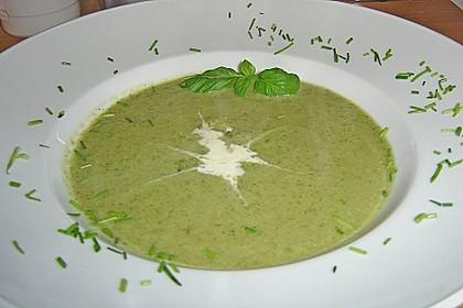 Brokkoli - Basilikum Suppe