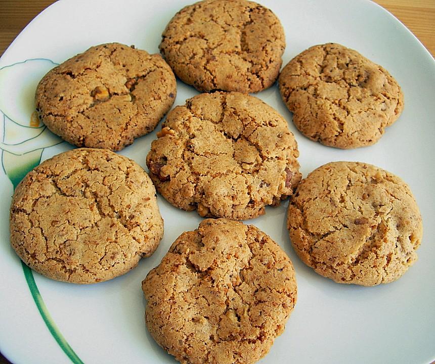 krokant cookies rezept mit bild von nimrodel. Black Bedroom Furniture Sets. Home Design Ideas