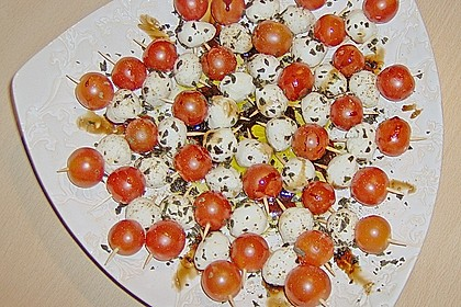 Tomaten - Mozzarella - Spieße 36