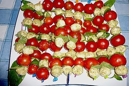 Tomaten - Mozzarella - Spieße 25