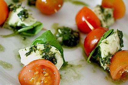 Tomaten - Mozzarella - Spieße 10