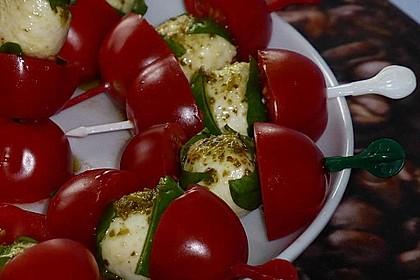 Tomaten - Mozzarella - Spieße 8